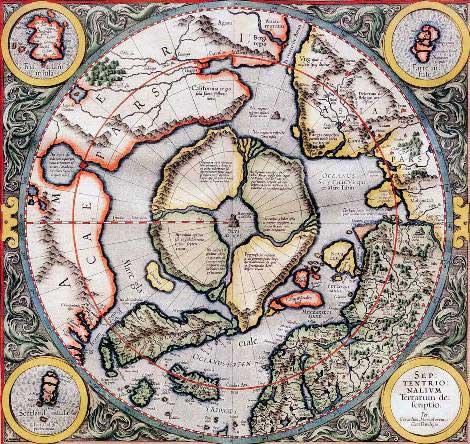 Карту Даарии, скопированную географом Меркатером в 1595 году со стены пирамиды в Гизе,