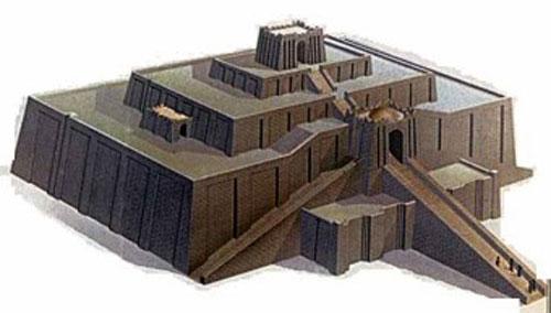 Зиккурат в Уре (Месопотамия).